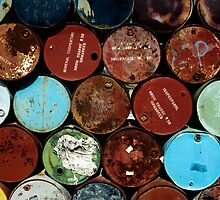 Australia - Oil Barrels by GuyHinksPhoto
