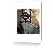 Underground - London Greeting Card