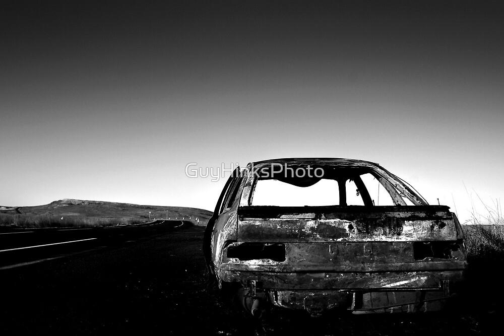 Derelict car, Eaglesham Moor by GuyHinksPhoto