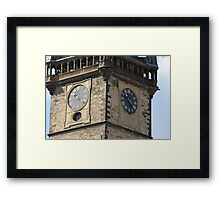 Czech  Clocks Framed Print