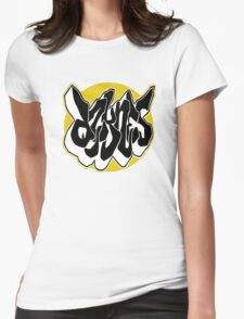 Graf Circle Yellow Womens Fitted T-Shirt