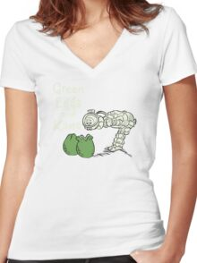 Green Eggs and Kane Women's Fitted V-Neck T-Shirt