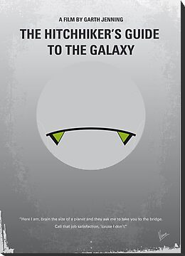 No035 My Hitchhiker Guide minimal movie poster by Chungkong