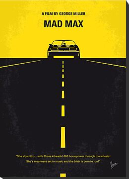 No051 My Mad Max minimal movie poster by Chungkong