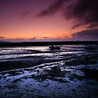 Winter sunrise, Cockwood Harbour at low tide. by Colin Munro