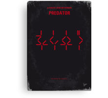 No066 My predator minimal movie poster Canvas Print