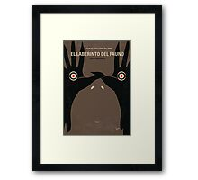 No061 My Pans Labyrinth minimal movie poster Framed Print