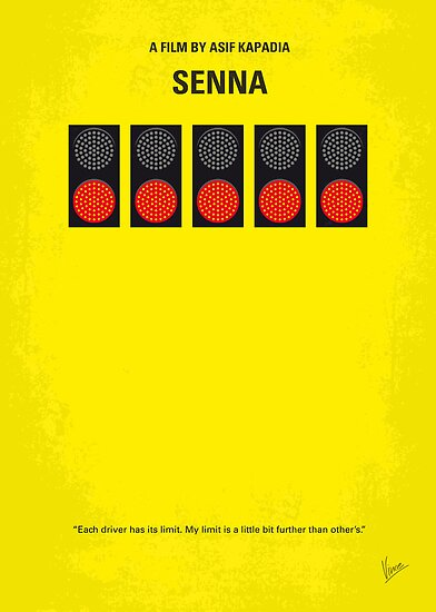 No075 My senna minimal movie poster by Chungkong