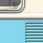 Cream Blue Camper Van by Ra12