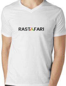 Rastafari Logo Mens V-Neck T-Shirt