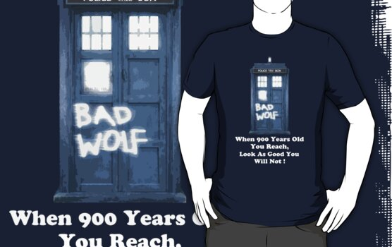 When 900 years old you reach ( White Text Clothing & Sticker ) by PopCultFanatics