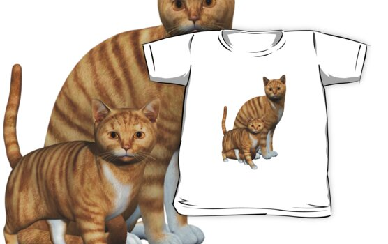 Ginger Tabbies .. T-Shirt by LoneAngel