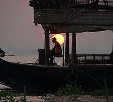 Kettuvallam At Sundown by Clive S
