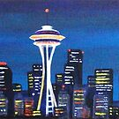 BLUE SEATTLE by ward-art-studio