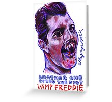 Vamp Freddie Greeting Card