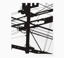 Power Lines Kids Tee
