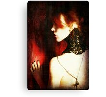 Crimson and Lace Canvas Print