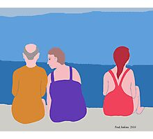 Friends at Beach Photographic Print