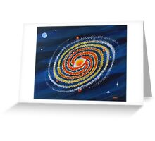 HOT SPIRAL GALAXY Greeting Card