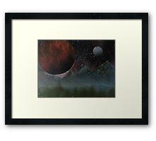 Blood Planet Framed Print