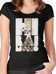 TWICE 'Hirai Momo' Typography Women's Fitted Scoop T-Shirt