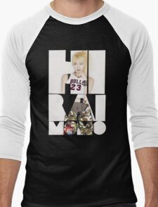 TWICE 'Hirai Momo' Typography Men's Baseball ¾ T-Shirt