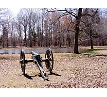 Cannon at Shiloh Battlefield Photographic Print