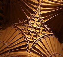 Tewkesbury Abbey - Vaulted Ceiling by John Dalkin