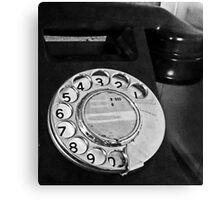 antique phone Canvas Print