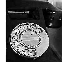 antique phone Photographic Print