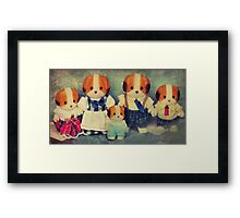 Chiffon Dog Family Framed Print