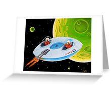 X-200 FLING SAUCER Greeting Card