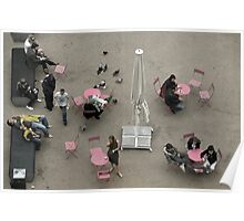 Pink tables Poster