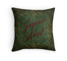 Joyeux Noel In Green And Red Throw Pillow