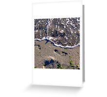 Foot Print Greeting Card