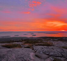 Cadillac Mountain Sunrise  - Acadia by Stephen Vecchiotti