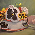 Tin Cup Pansy Tea by jimmie
