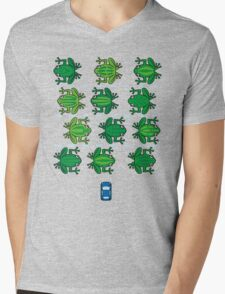 Revenge of the Frogs Mens V-Neck T-Shirt