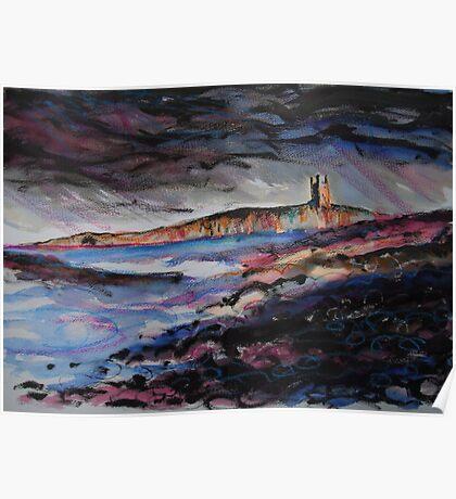 'Dunstanburgh Castle, Northumberland' Poster