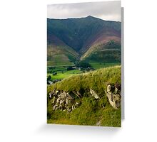Distant view of Skiddaw Greeting Card