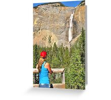 Gazing at Takakkaw falls Greeting Card