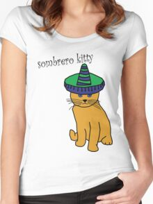 Sombrero kitty Women's Fitted Scoop T-Shirt