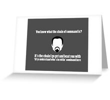The Chain of Command - White Greeting Card