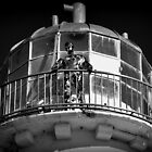 Talacre Metal Lighthouse ' Keeper ' by Stan Owen