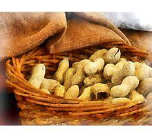 Basket of Peanuts Photographic Print
