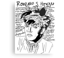Rowland S. Howard Tribute Metal Print