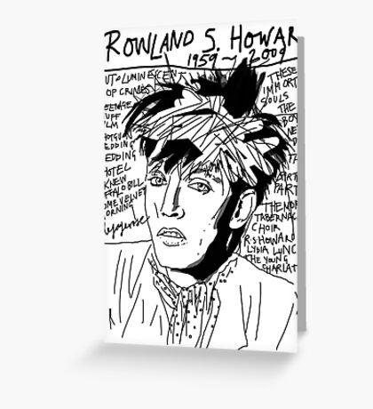 Rowland S. Howard Tribute Greeting Card