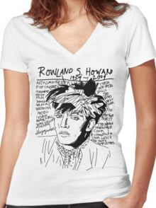 Rowland S. Howard Tribute Women's Fitted V-Neck T-Shirt