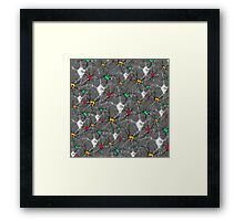 """""""Synapsing now. - GREY""""© Framed Print"""