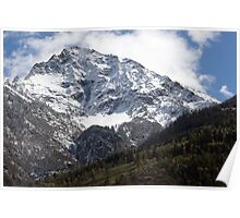 Mountainous Contrast Poster